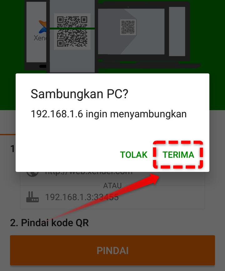 Terima Xender Mengakses HP Anda di PC