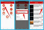 cara crop layar video Android