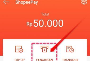 Tarik Saldo Shopeepay