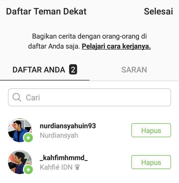 Teman Dekat Instagram