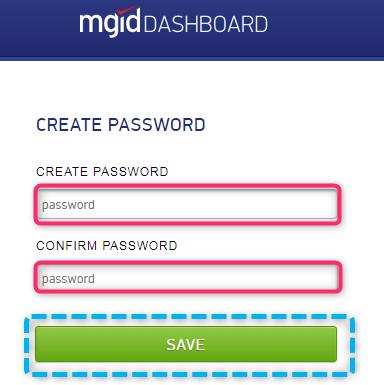 Buat Password MGID