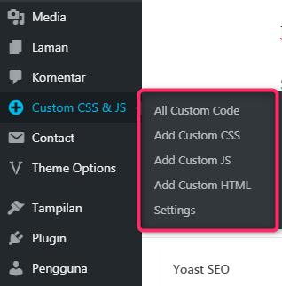 Plugin Untuk Menambahkan Javascript Dan CSS