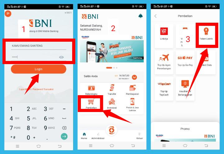 Update Cara Beli Token Listrik Lewat Mobile Banking Bni Terbaru Jagoan Kode