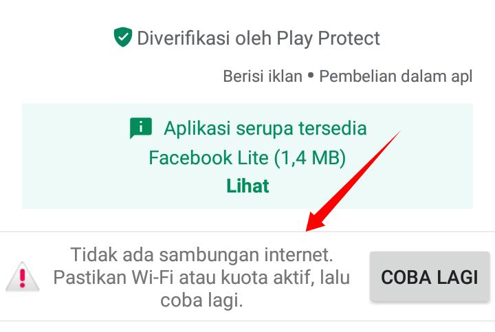 download tertunda karena tidak ada jaringan