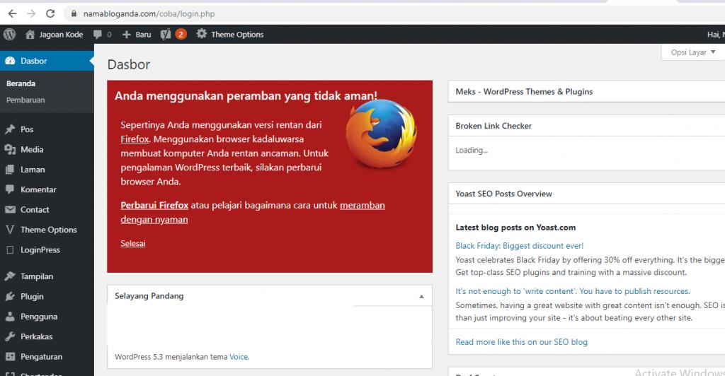 Cara Login WordPress Menggunakan Script PHP