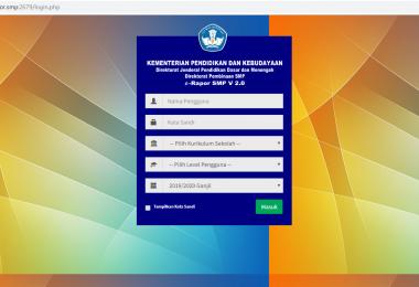 Menghubungkan Admin dan Client Pada Aplikasi E-Rapor SMP