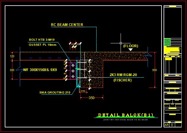Detail Hubungan Balok Dan RC Balok