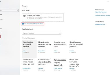 Cara Untuk Menginstal Font di Windows 10
