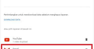 Menghapus Akun Gmail