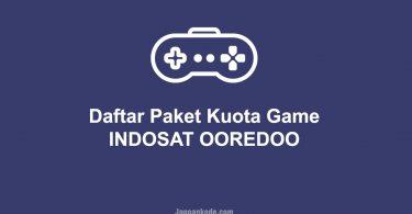 Daftar Paket Kuota Game Indosat Ooredoo