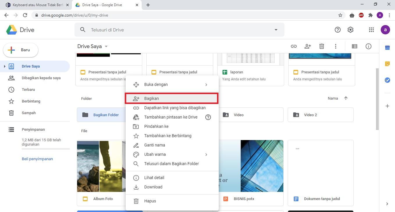 Cara Membagikan Folder di Google Drive - Jagoan Kode