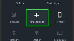 mode pesawat