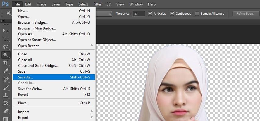 Cara Menghilangkan background foto menjadi Transparan