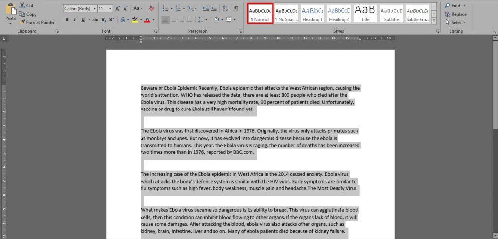 Cara Merapikan Tulisan dan Spasi di Word