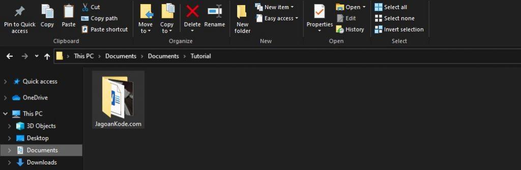 Membuat file RAR via Compressed Folder