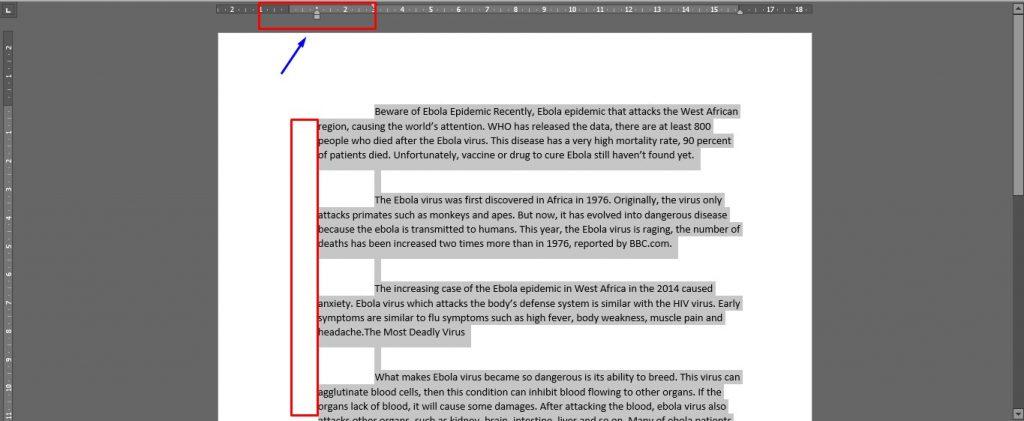 Mengatur Indent pada Paragraf/Tulisan