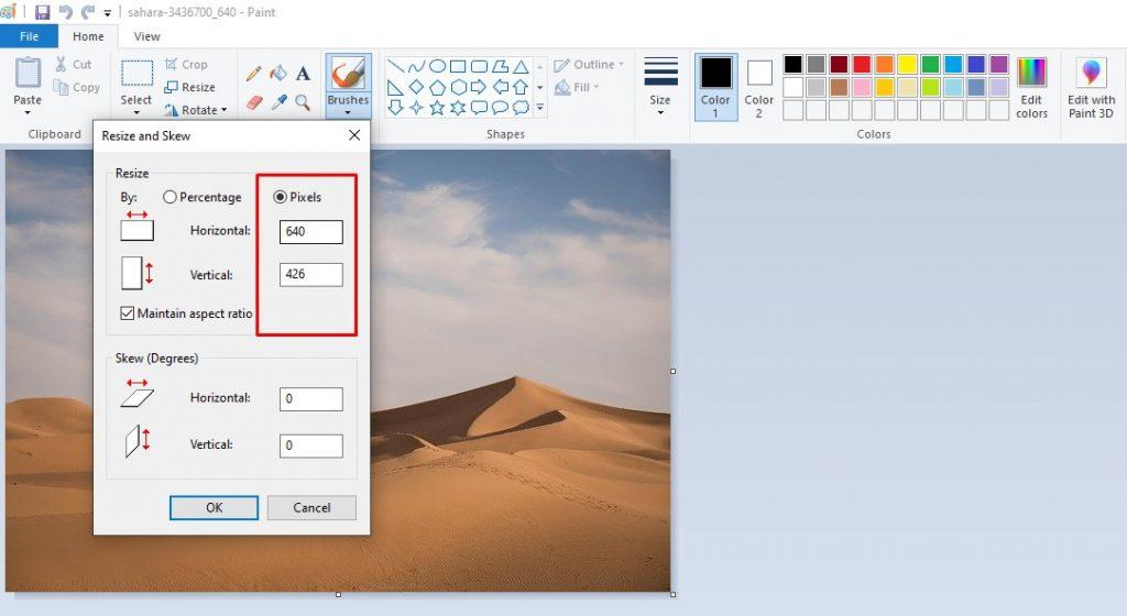Memperbesar Ukuran Foto melalui Microsoft Paint