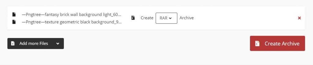 Membuat file RAR Menggunakan CloudCounvert.com