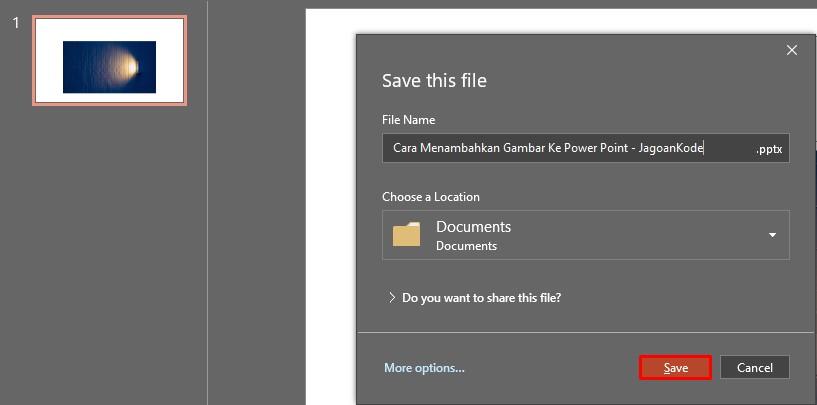 Memasukan Gambar ke Power Point dengan Layout Slide