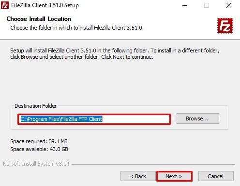 cara mudah instal filezilla