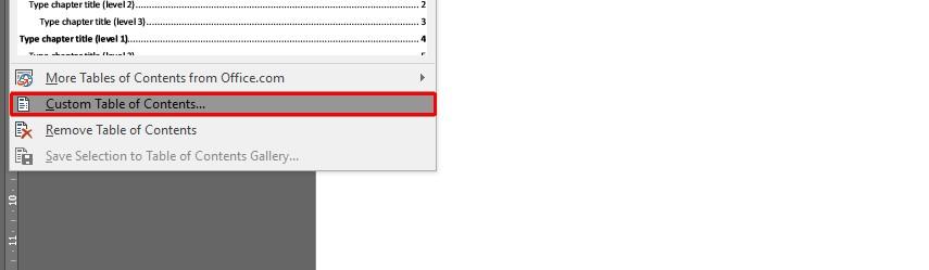 Membuat daftar isi di microsoft word