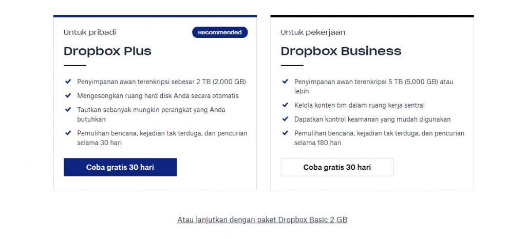 cara membuat akun dropbox