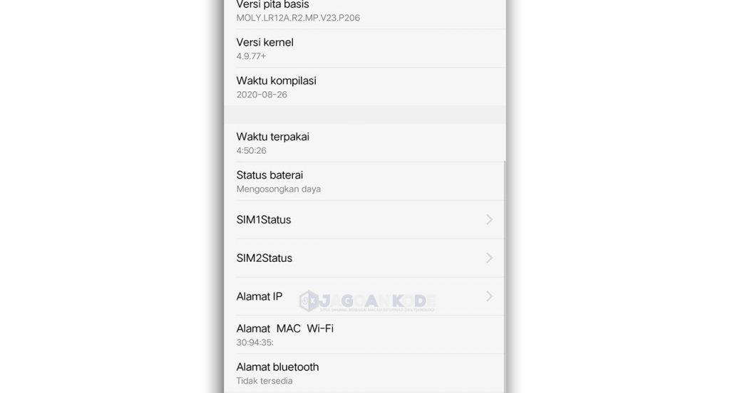 Cara Melihat MAC Address Android