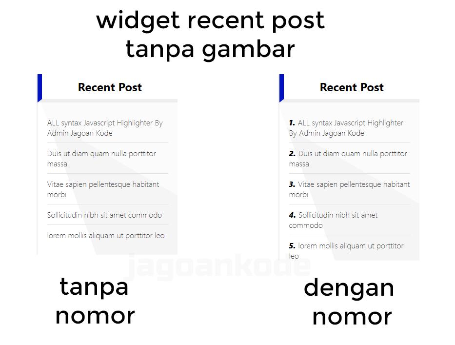 widget recent post tanpa gambar