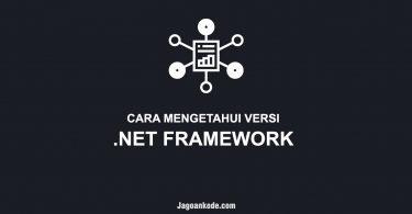 Cara mengetahui versi NET Framework