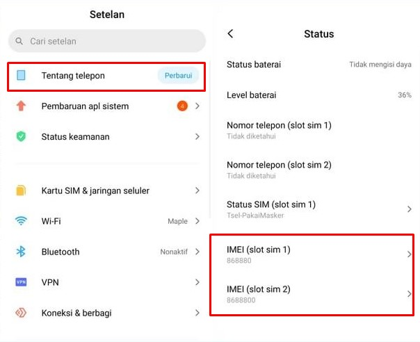 Cek IMEI Xiaomi