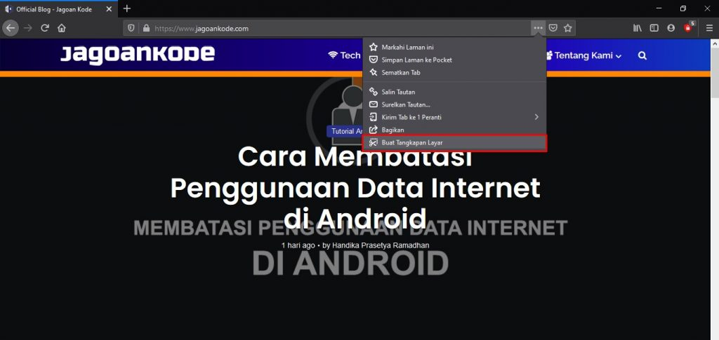 Cara Screenshot Panjang di PC dan Laptop