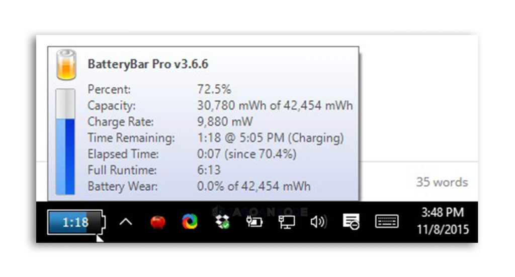 Aplikasi BatteryBar
