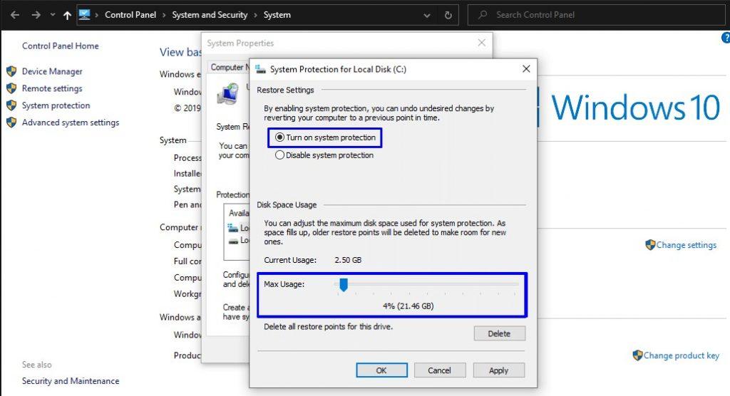 Cara Membuat System Restore Point di Windows 10