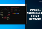 cara install windows subsystem for linux