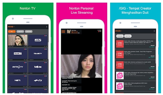Mivo : Nonton TV & Artis - Aplikasi TV Online Indonesia Terbaik