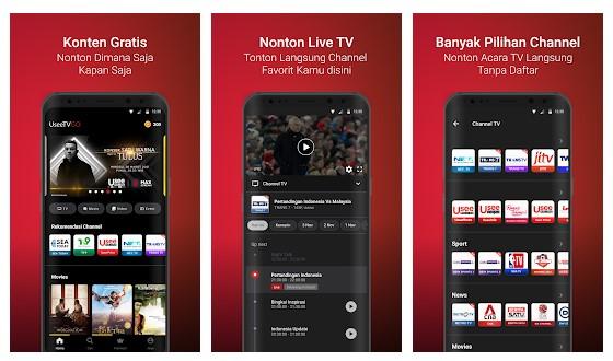 UseeTV GO – Watch TV & Movie Streaming - Aplikasi TV Online Indonesia Terbaik