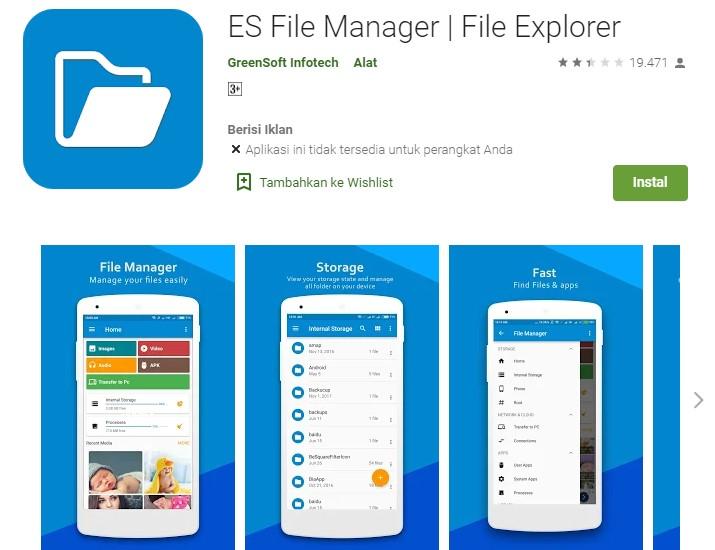 ES File Manager File Explorer