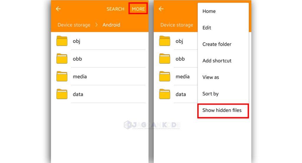 cara menampilkan file tersembuyi dengan fitur bawaan